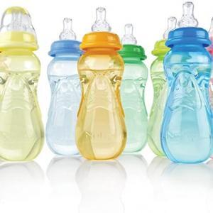 3 Pack Nuby 10oz Bottles Front Picture