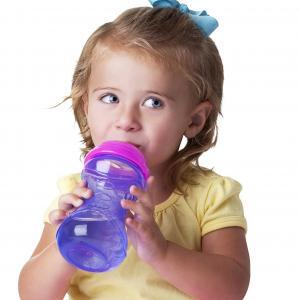 Little Girl with Easy Grip 10oz Cup