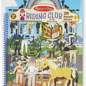Puffy Sticker Activity Book Riding Club Front Image
